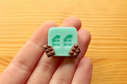 Tiny Chocolate Bars Silicone Mold (Green)