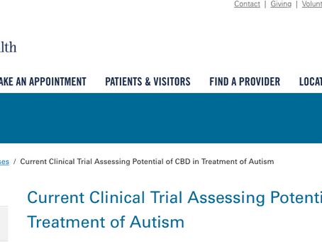 Current Clinical Trial Assessing Potential of CBD in Treatment of Autism