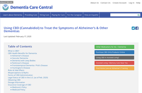 Using CBD to Treat the Symptoms of Alzheimer's & Other Dementias