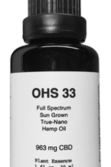 OHS 33 CBD Oil 1 oz - 30 ml