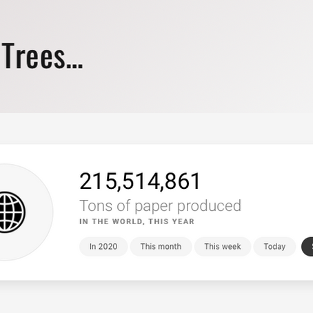 If you read this it will help save the trees!
