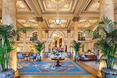 The lobby of the Willard Hotel where it is widely believed the term lobbying was created