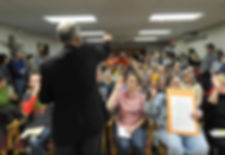 Congressman attends a townhall where he talks to constituents
