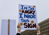"A Woman's March sign outside a government building says ""I'm So Angry I Made This Sign"""