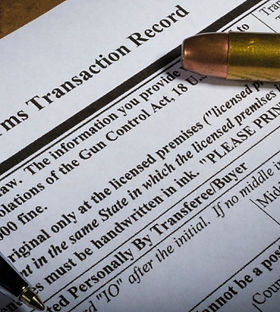 A background check form needed to purchase a firearm demonstrating our gun violence lobbying work