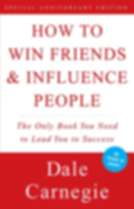Dale Carnegie's book cover about a book that explains how to influence people