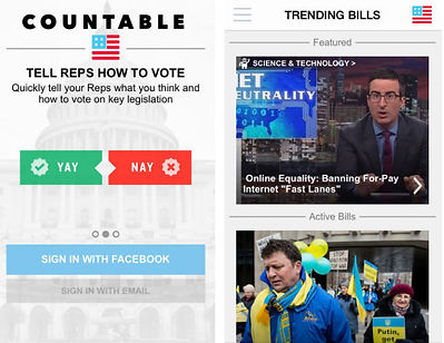 Countable is an online voting platform which sells itelf as a good way to contact Congress, buy many people on the Hill do not trust this medium as a good way to contact Congress