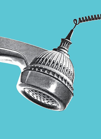 A telephone with an image of the Capitol Building in D.C.