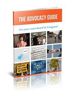The Advocacy Guide teaches people how to write letters to Congress