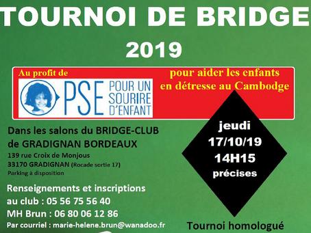 Tournoi de bridge jeudi 17 octobre