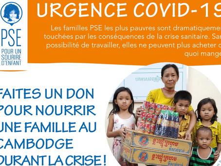 Urgence Covid19 crise alimentaire au Cambodge