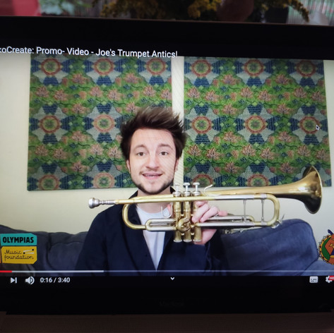 Joe's trumpet antics