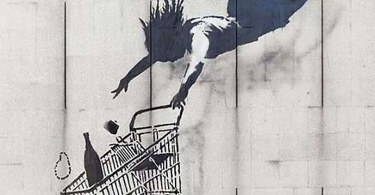 """Shop Til You Drop"" by Banksy"
