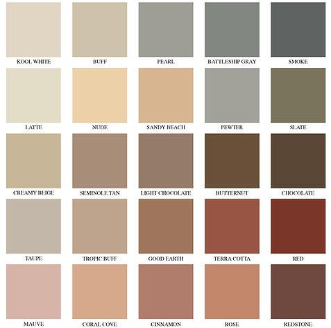 Colorcrete Color Chart