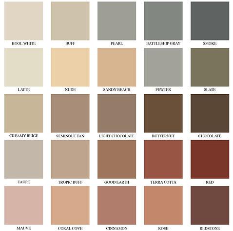 Coloron Color Chart