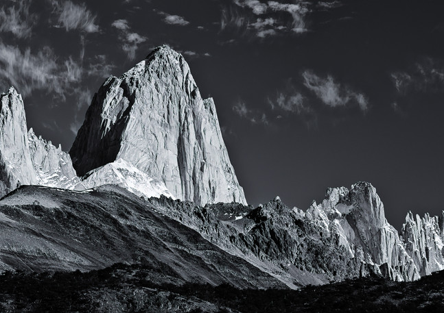 Mt. Fitz Roy Black and White