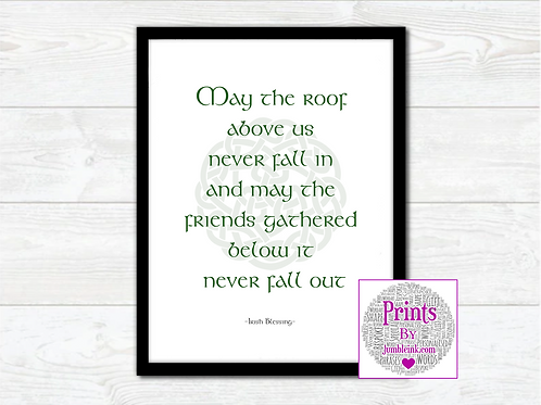 Irish Blessing Wall Art Print:
