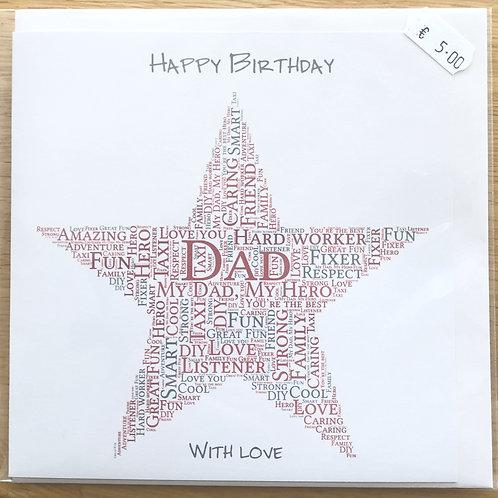 Dad Happy Birthday Card: €5