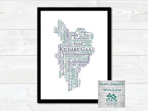 Kildare GAA Clubs Wall Art Print: