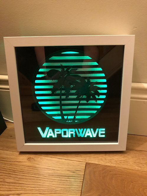 €5.50 - Vapowave - 3D Paper Cut Template Light Box SVG