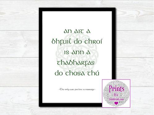 Irish Proverb Wall Art Print: