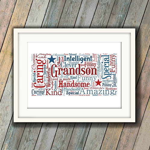 For That Special Grandson Wall Art Print: