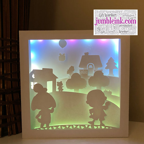 €5.50 - Animal Crossing - Square 3D Paper Cut Template Light Box SVG
