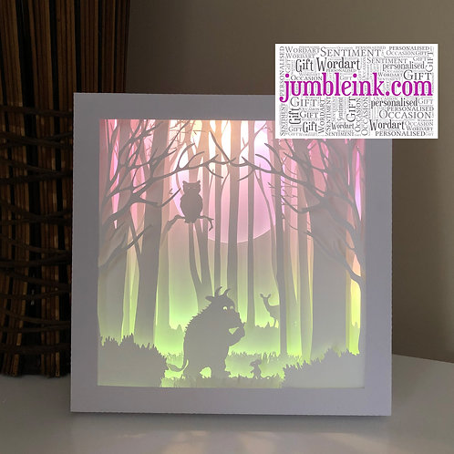 €5.50 - The Gruffalo - 3D Paper Cut Template Light Box SVG