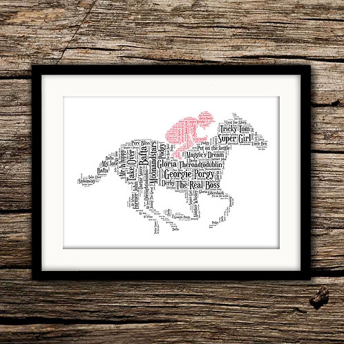 Horse & Jockey Wall Art Print: €10 - €55
