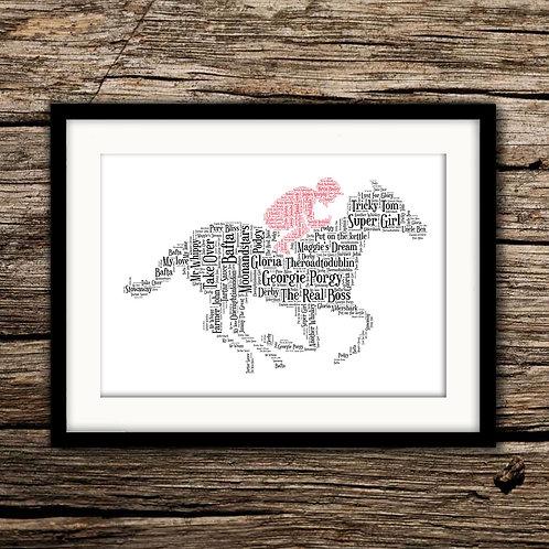 Horse & Jockey Wall Art Print: