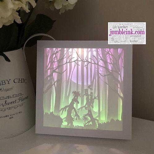€5.50 - Stick Family - 3D Paper Cut Template Light Box SVG