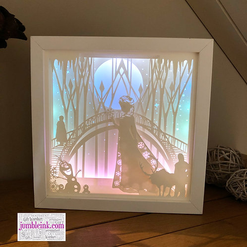 €5.50 - Frozen - Square 3D Paper Cut Template Light Box SVG