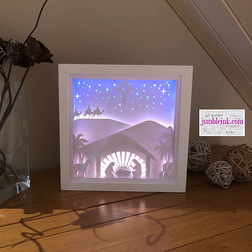 €5.50 - Nativity - 3D Paper Cut Template Light Box SVG