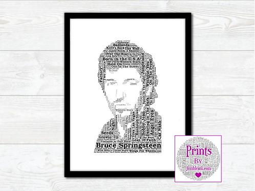 Bruce Springsteen Wall Art Print: