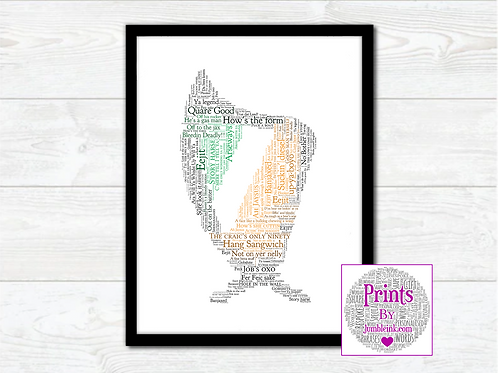 For The Craic Harp Wall Art Print: €10 - €55