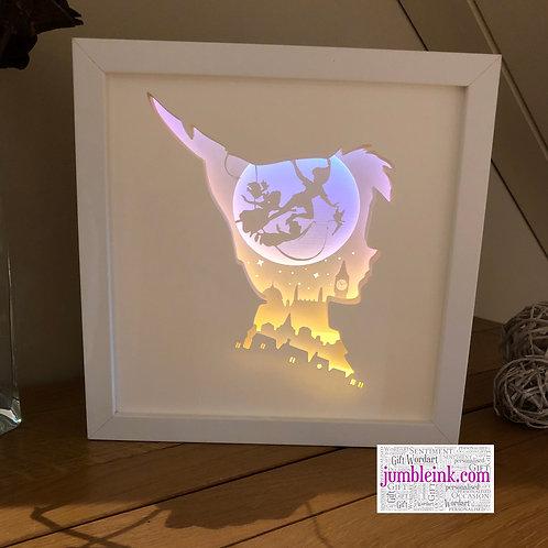 €5.50 - Peter Pan - 3D Paper Cut Template Light Box SVG