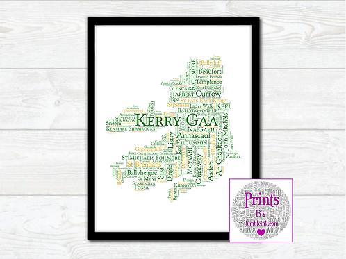 Kerry GAA Clubs Wall Art Print: