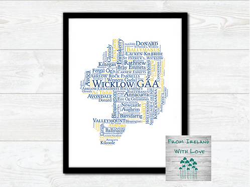 Wicklow GAA Clubs Wall Art Print: