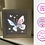 Thumbnail: €5.50 - Butterfly White Card Stock - 3D Paper Cut Template Light Box SVG