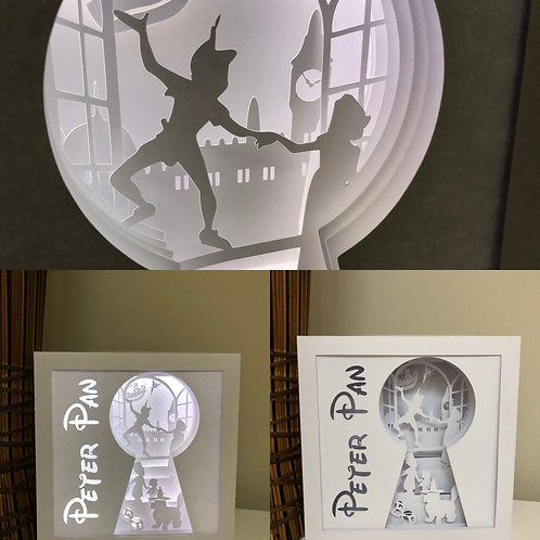 €5.50 - Peter Pan - Square 3D Paper Cut Template Light Box SVG