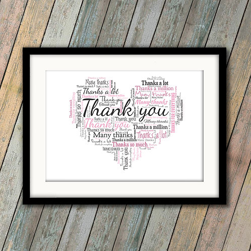 Just To Say Thank You Wall Art Print: €10 - €55