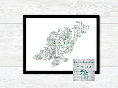 County Donegal Towns Wall Art Print: