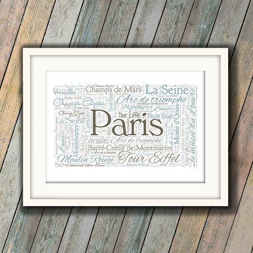Paris Wall Art Print: €10 - €55