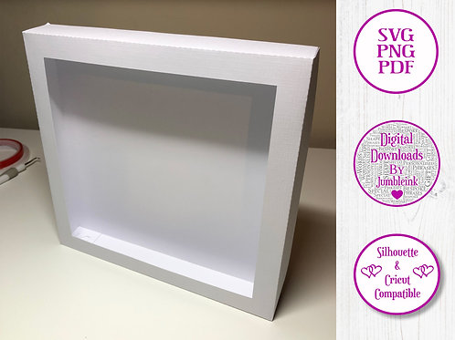 €5.50 - Square Box Frame Template - 3D Paper Cut  Light Box SVG
