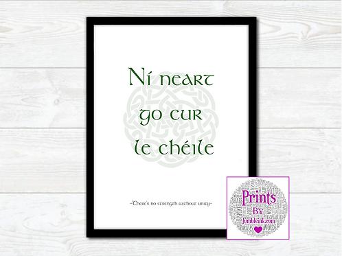 Irish Proverb Wall Art Print: €10 - €55