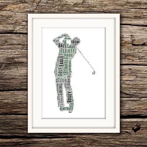 Golf Wall Art Print: