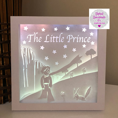 €5.50 The Little Prince Square 3D Paper Cut Template Light Box SVG