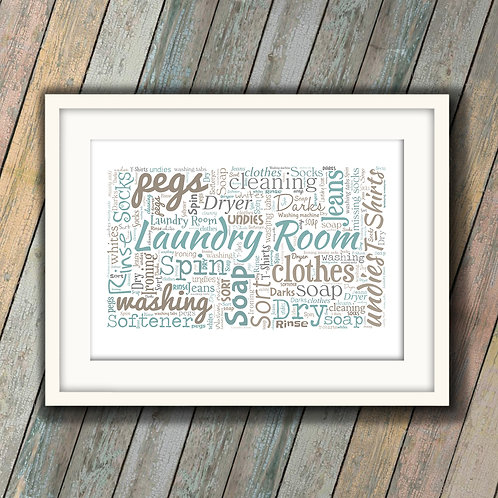 Laundry Room Wall Art Print: €10 - €55