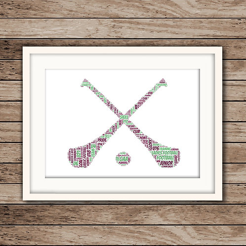 Crossed Hurls Wall Art Print: €10 - €55