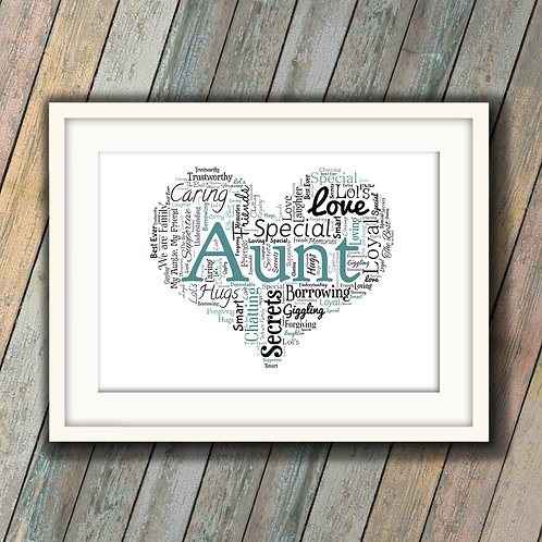 For Your Aunt Wall Art Print: